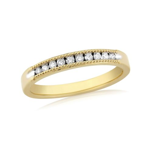Yellow Gold Diamond Channel Set | Eternity Ring | DR1305